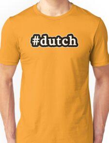 Dutch - Hashtag - Black & White Unisex T-Shirt