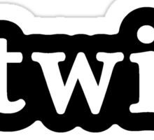Twin - Hashtag - Black & White Sticker