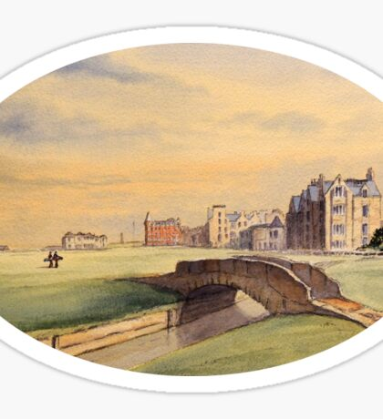 St Andrews Golf Course Scotland - 18th Fairway Sticker