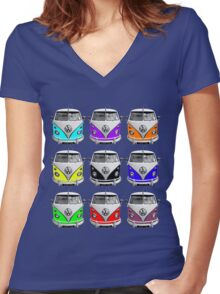 Volks Warhol Women's Fitted V-Neck T-Shirt