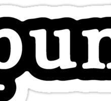 Punk - Hashtag - Black & White Sticker