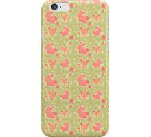 Bunnies and Kitties Pattern iPhone Case/Skin