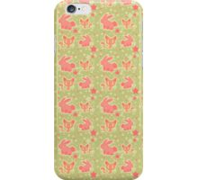 Bunnies and Kitties Pattern iPhone Case/Skin