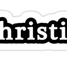 Christian - Hashtag - Black & White Sticker