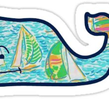 Lilly Pulitzer Whale Sticker
