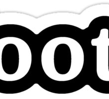 OOTD - Hashtag - Black & White Sticker