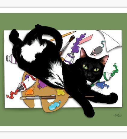 An Artist's Cat Sticker