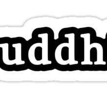 Buddhist - Hashtag - Black & White Sticker