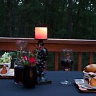 Wine and Fruit for Two at Dusk by Sherry Hallemeier