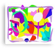 Directions Alphabet Sense Fence Avocado Paint Canvas Print