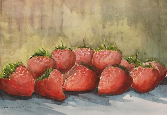 Strawberries by Kostas Koutsoukanidis