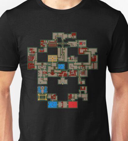 8BIT Skull Map Unisex T-Shirt