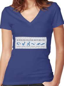 If Found, Please Return To... Women's Fitted V-Neck T-Shirt
