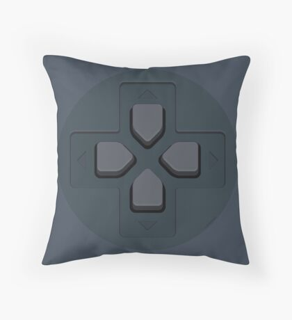 PS Controller D-Pad Throw Pillow