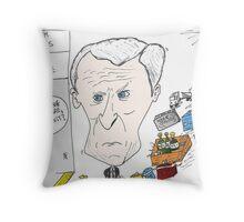Caricature of Bernard Arnault Throw Pillow