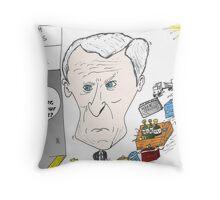 Caricature de Bernard ARNAULT Throw Pillow