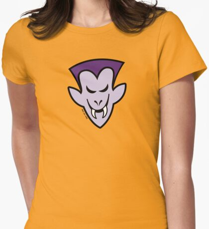 Naughty Halloween Vampire Womens Fitted T-Shirt