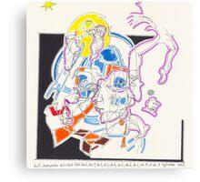 Night Drawings - Les Dessins de Nuit n°56  - Scaphandre Bleu Canvas Print