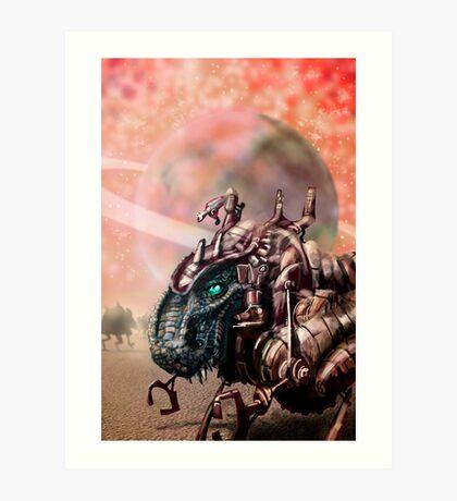 DinoBot Art Print