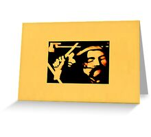 JWFrench Collection The Drummer (Beige) Greeting Card