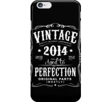 Year Of Birth 2014 Text White iPhone Case/Skin