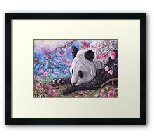 Lazy Panda Framed Print