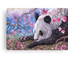 Lazy Panda Canvas Print