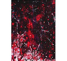 Abstract Red and Black Painting  Photographic Print