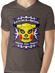 LUCHAMON Mens V-Neck T-Shirt