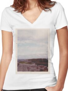 Welsh Countryside Women's Fitted V-Neck T-Shirt