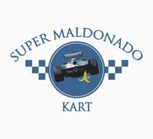 Super Maldonado Kart Classic - Blue Writing Kids Clothes
