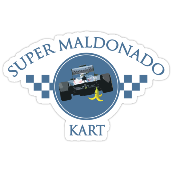 Super Maldonado Kart Classic - Blue Writing by wtf1