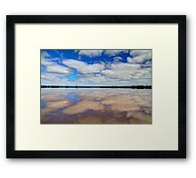 """Pink Lake Reflections"" Framed Print"