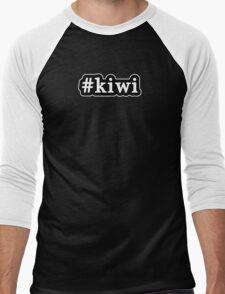 Kiwi - Hashtag - Black & White Men's Baseball ¾ T-Shirt