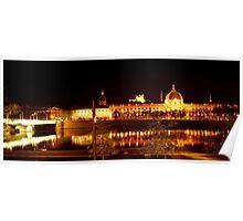 Shining city of Lyon, France Poster