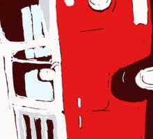 Bay Camper Red White New Version Sticker
