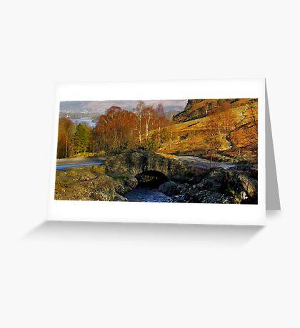 Ashness Bridge  Lake District Greeting Card
