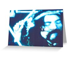 JWFrench Collection The Drummer Neon Original Greeting Card