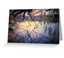 Autumn Tones, Lake Weeroona Greeting Card
