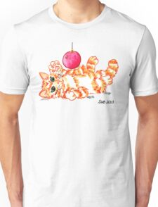 2013 Holiday ATC 20 - Kitten Playing with Ornament Unisex T-Shirt