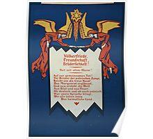 Völkerfriede Freundschaft Brüderlichkeit! Fort mit allem Hasse! 1061 Poster