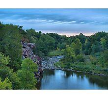 Cloudy Sunrise Over Split Rock Creek Photographic Print