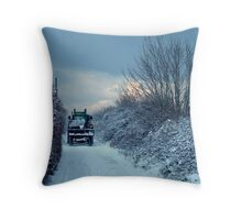 Irish Winter Throw Pillow