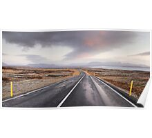 Open Road, Iceland Poster
