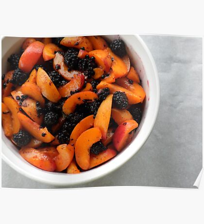 Apricots and Blackberries for Cobbler  Poster