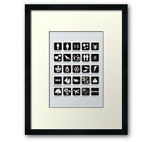 Phobia list Framed Print