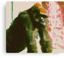 Furry Monkey Canvas Print