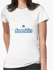 Foreskin (Foursquare Logo Parody) Womens Fitted T-Shirt