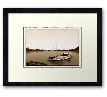 At the dock Framed Print