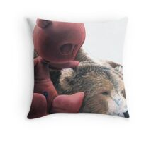 Teddy and Me Throw Pillow